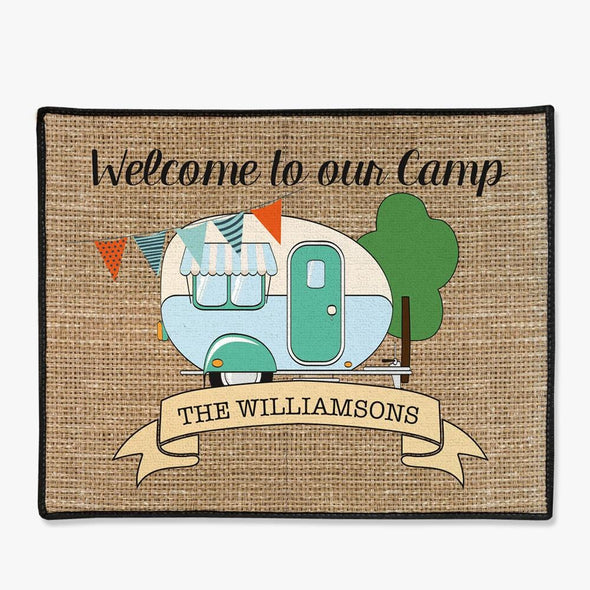 Welcome To Our Camp Personalized Floor Mat