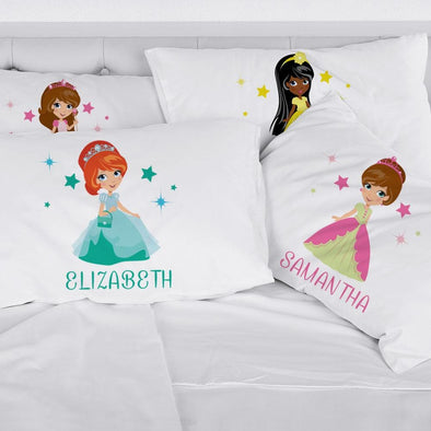Customized Girls Princess Sleeping Pillowcase | Custom Pillow for Kids.