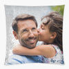 Custom Magic Sequin Pillow Case of Your Photo | Personalized Reversible Mermaid Sequin Throw.