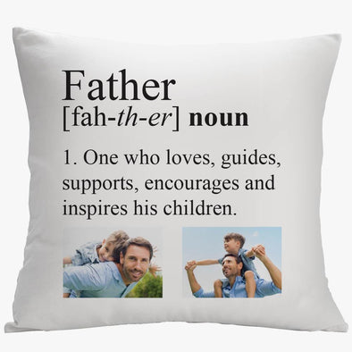 Definition of a Father Photo Decorative Pillowcase.