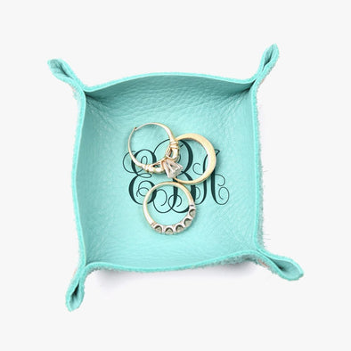Scroll Monogram Genuine Leather Mini Catchall