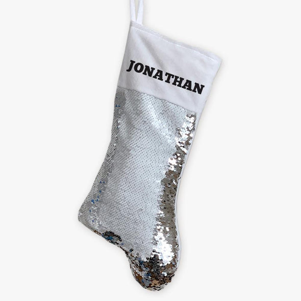 Christmas Personalized Sequin Stocking