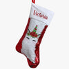 Unicorn Christmas Personalized Sequin Stocking.