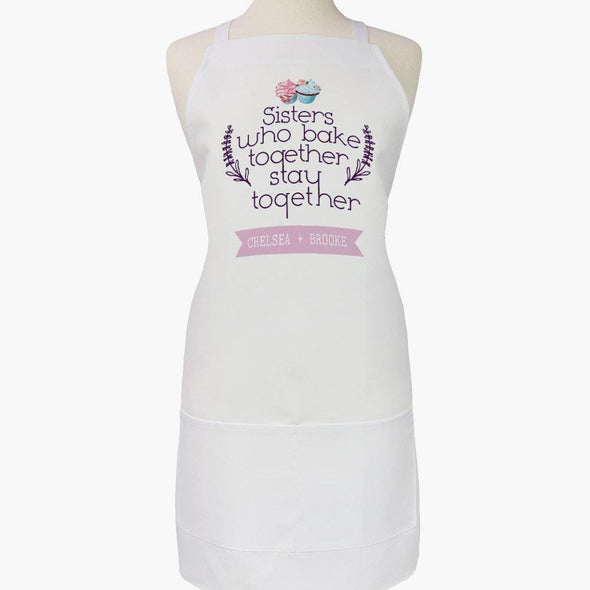 Sisters Personalized Adult Apron.