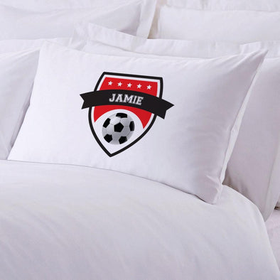 Soccer Personalized Sports Sleeping Pillowcase.