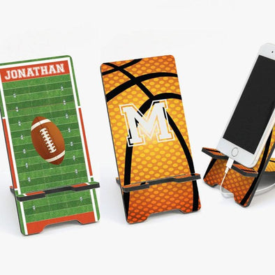 custom sports cell phone stand