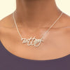 Sterling Silver Name Necklace Modern Signature | Personalized Jewelry With Custom Name.