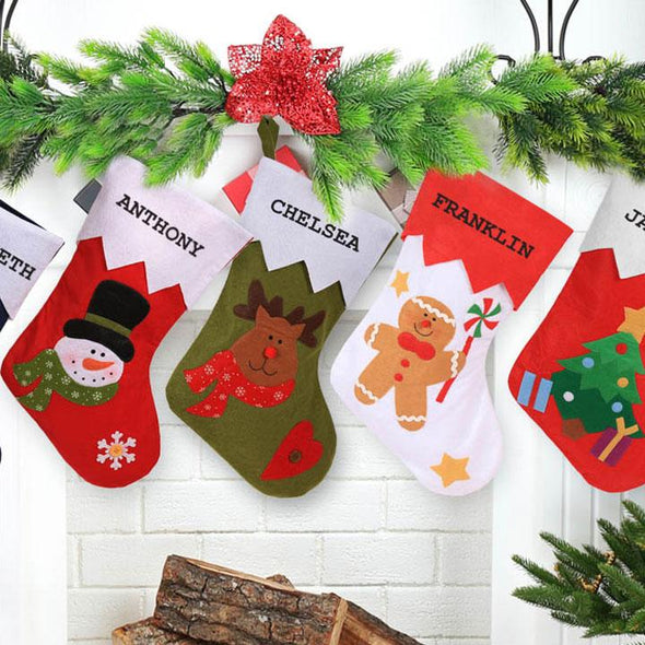 Personalized 3D Christmas Stocking.
