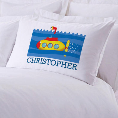 Submarine Personalized Kids Sleeping Pillowcase.
