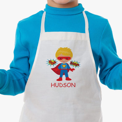 Super Hero Personalized Kids Apron