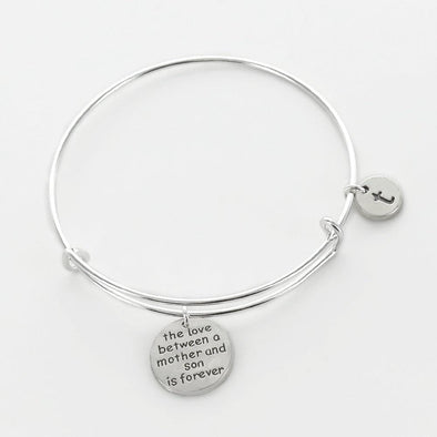 The Love Between A Mother And Her Son Personalized Bangle.