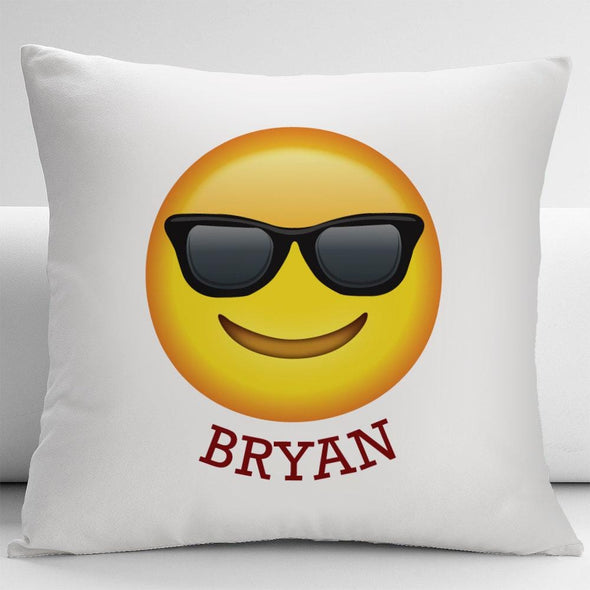 The Sunglasses Emoji Custom Decorative Cushion Cover.