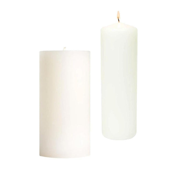 White Pillar Candle 3x6 | 3x9.
