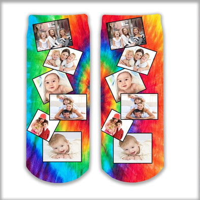 Photo Personalized Tube Socks with background designs