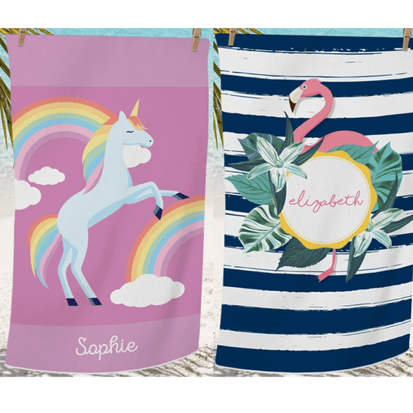 personalized beach towels for kids