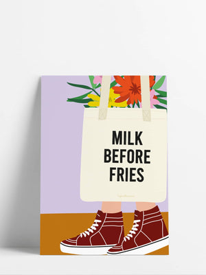 La Mini Poster<br> Milk before fries