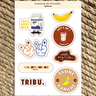 Planche stickers Tribu