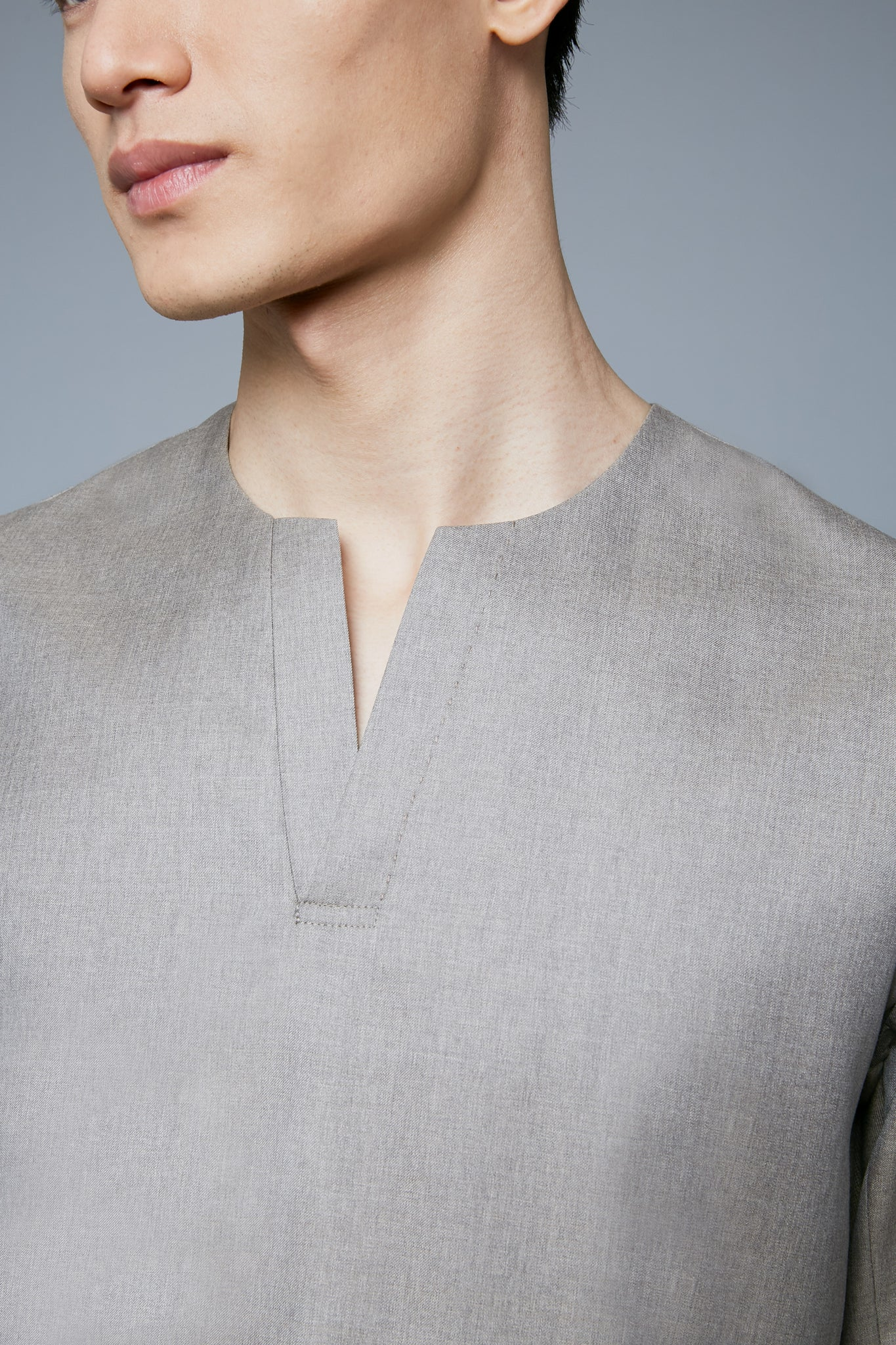 Woven Henley | Taupe