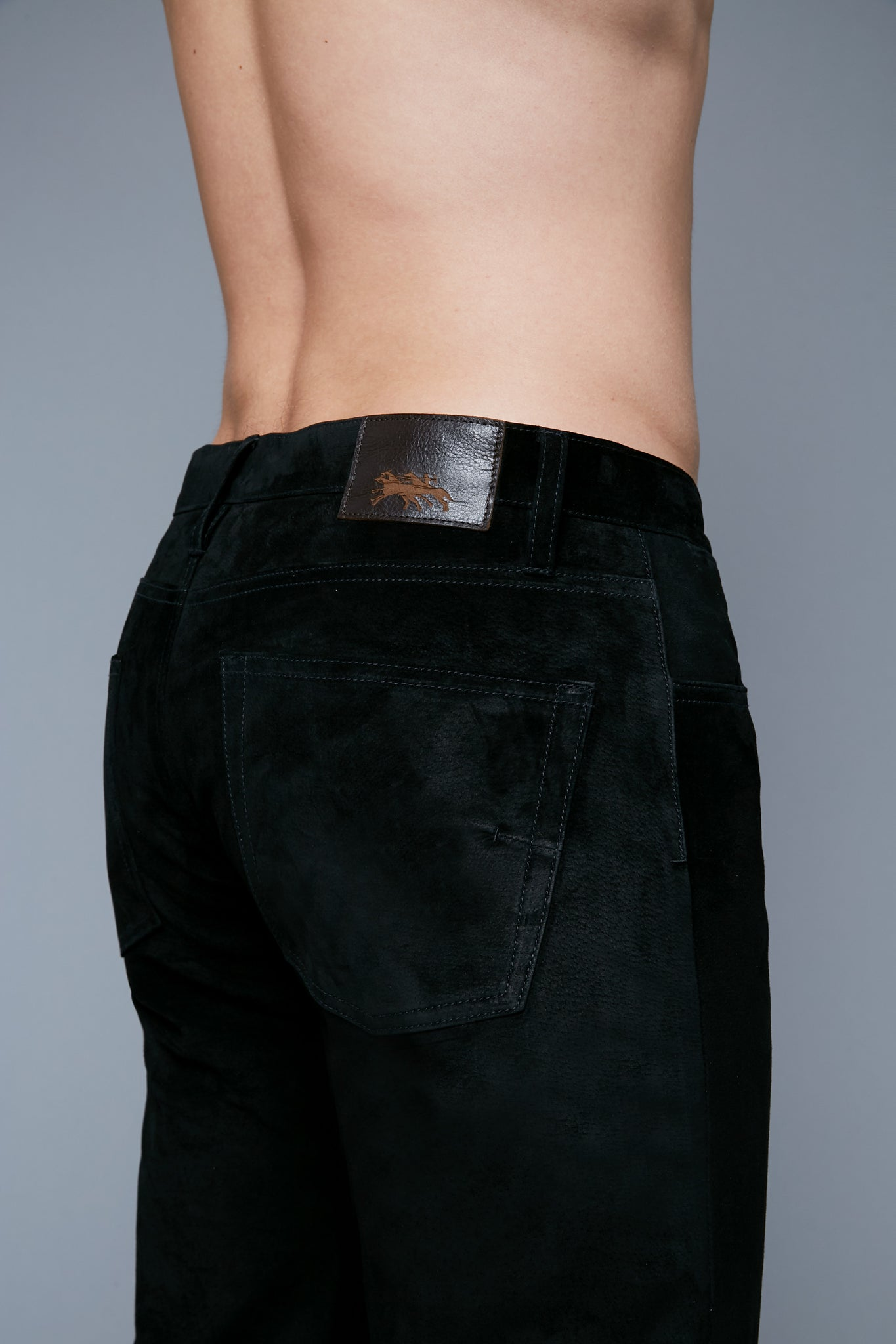 Suede Jeans | Black
