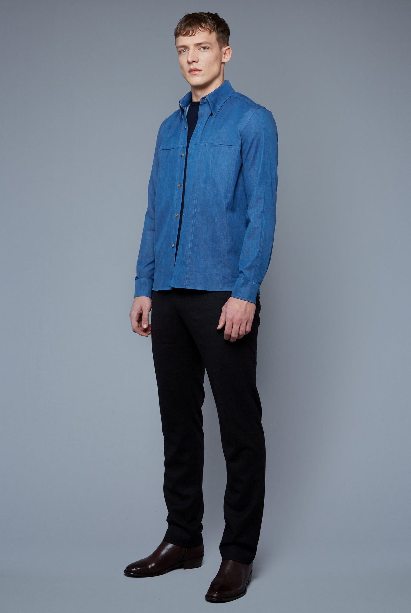 Kojima Denim Shirt | Light Blue