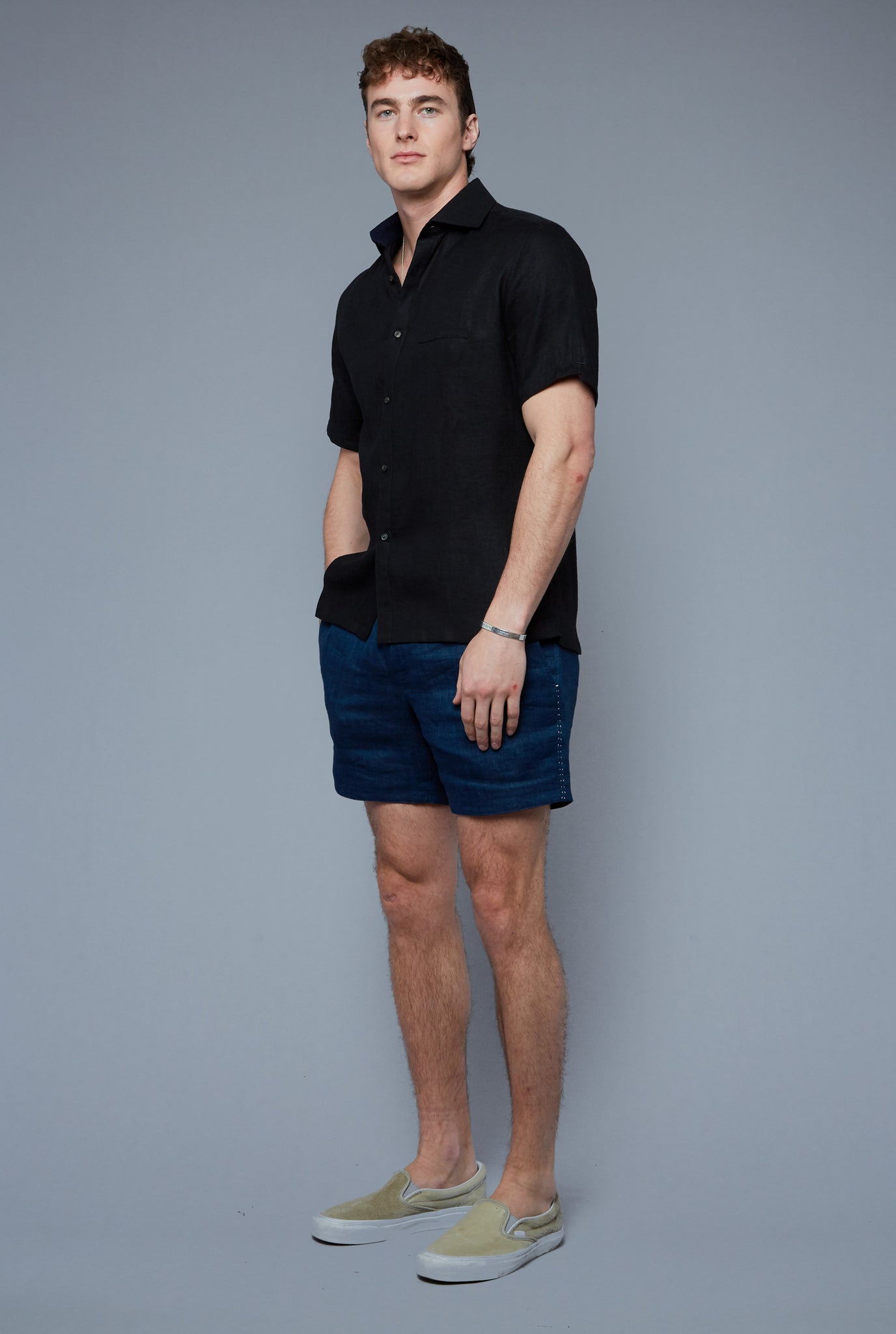 Aloe Linen Shirt | Black