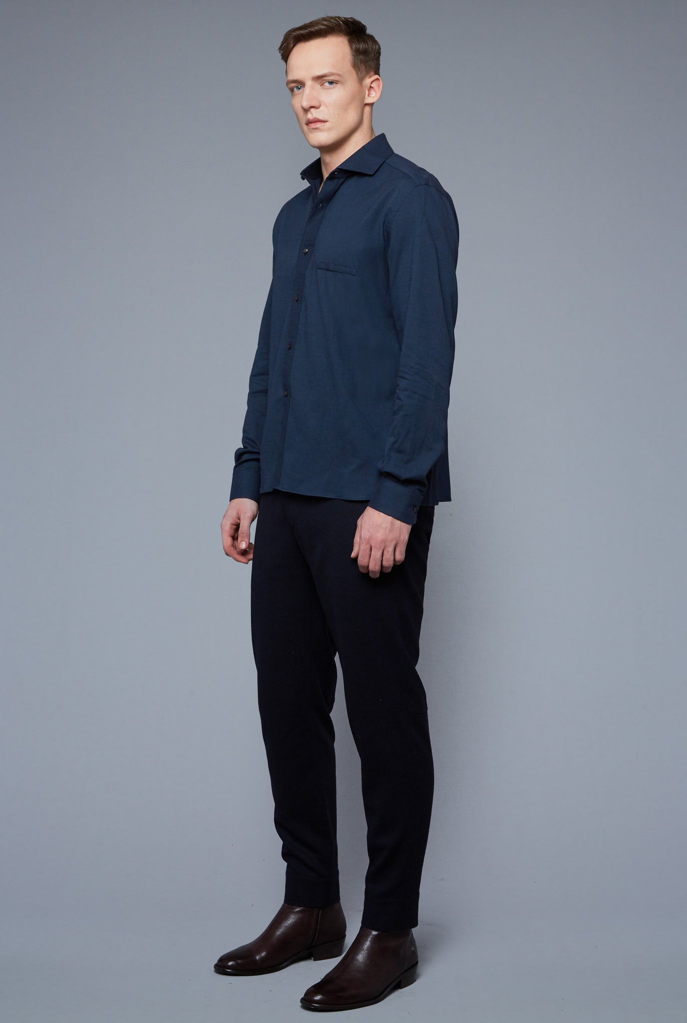 Flannel Greenwich Shirt | Navy