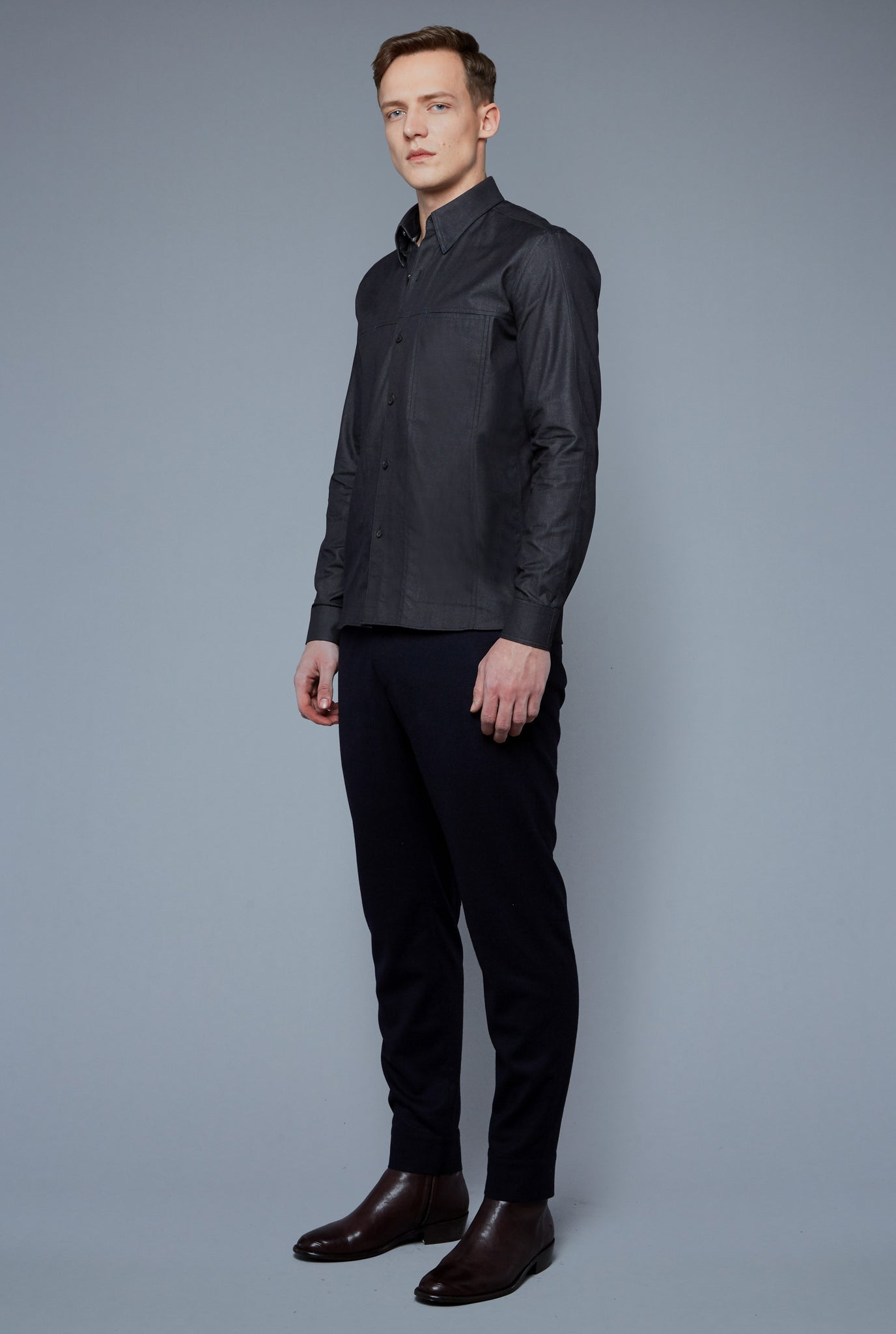 Kojima Denim Shirt | Black