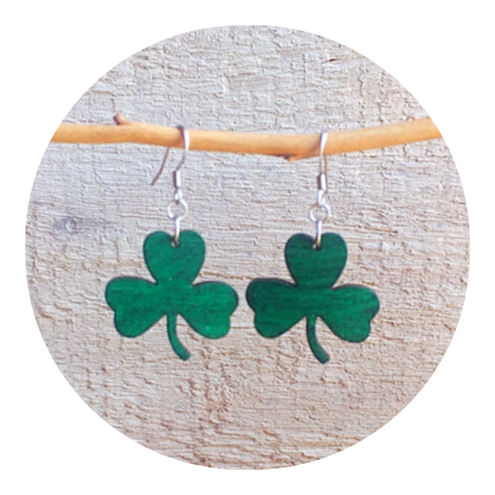 Shamrock Dangle Earrings
