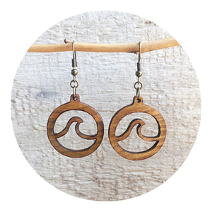 Open Wave Dangle Earrings