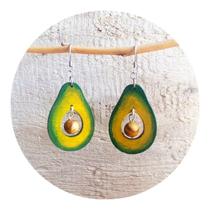 Avocado Dangle Earrings