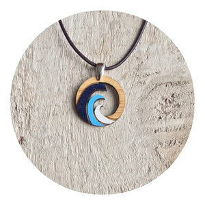 Baja Wave Necklace Blue
