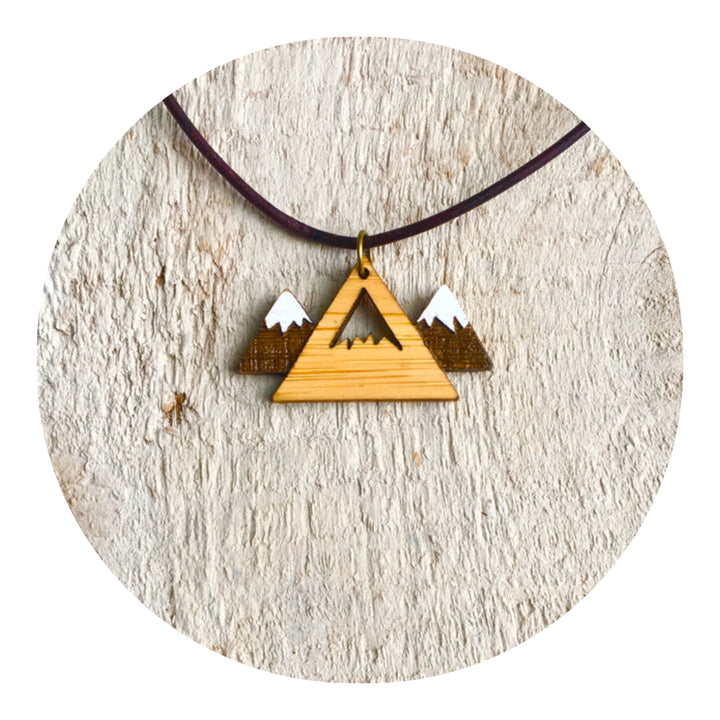 Snow Peak Mountain Necklace