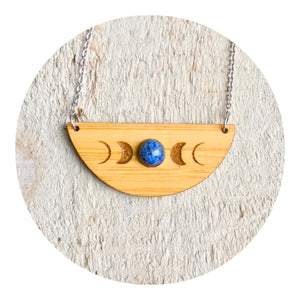 Lapis Moonphase Necklace