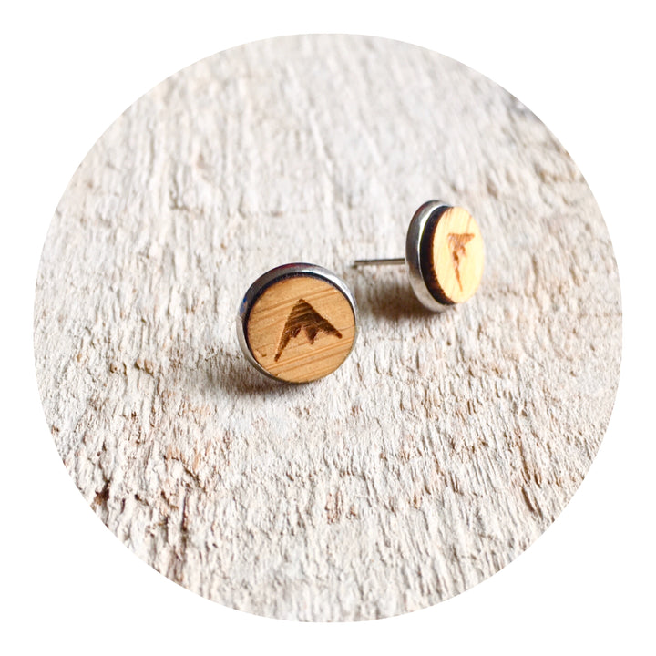 Peaks Bezel Stud Earrings