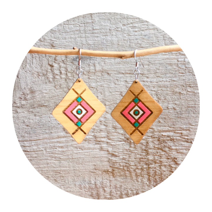 Tribal Dangle Earrings - Large