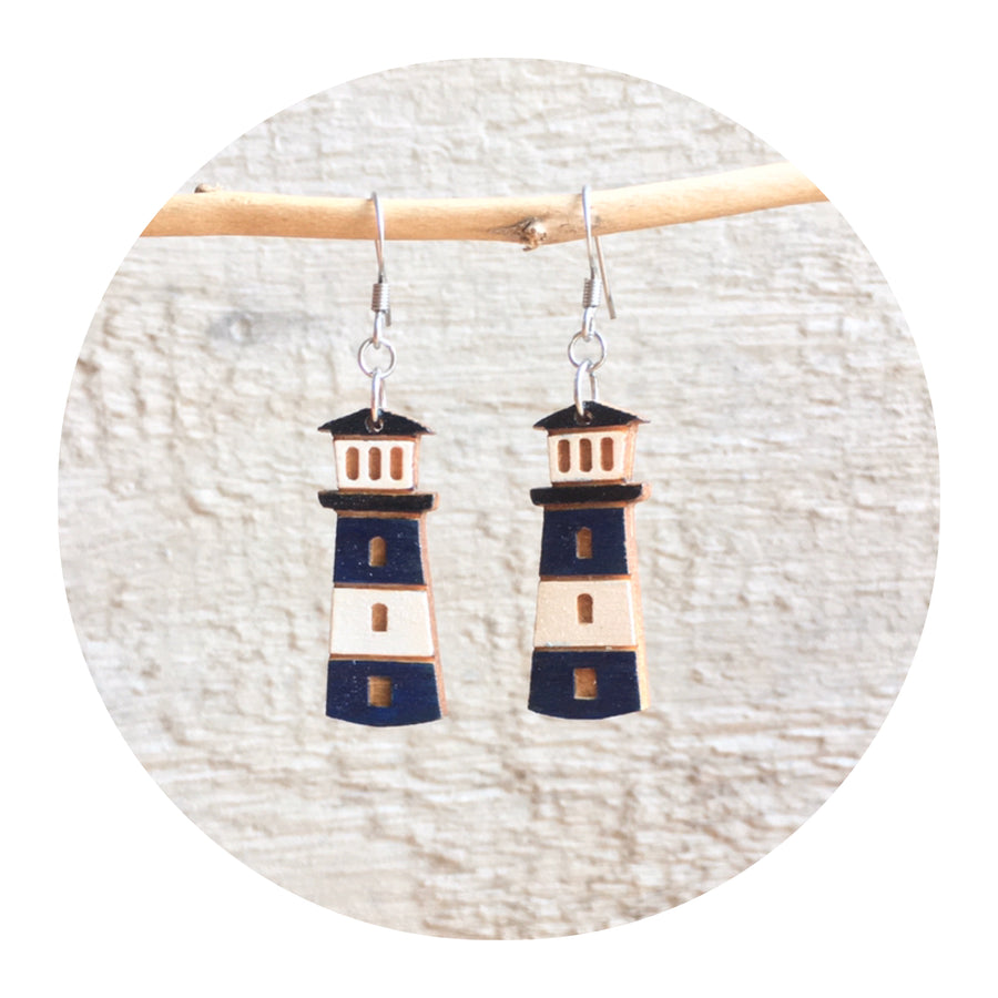 Lighthouse Dangle Earrings