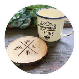 Aspen Wood Slice Coasters