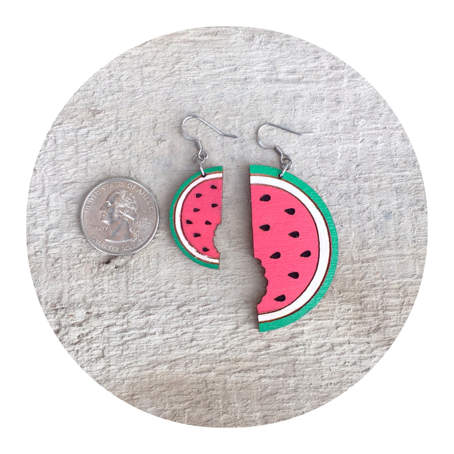 Watermelon Dangle Earrings