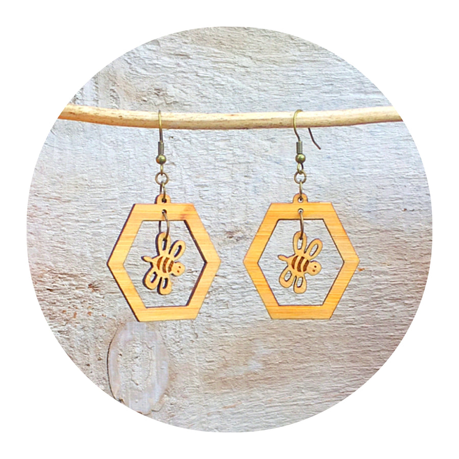 Honey Bee Dangle Earrings