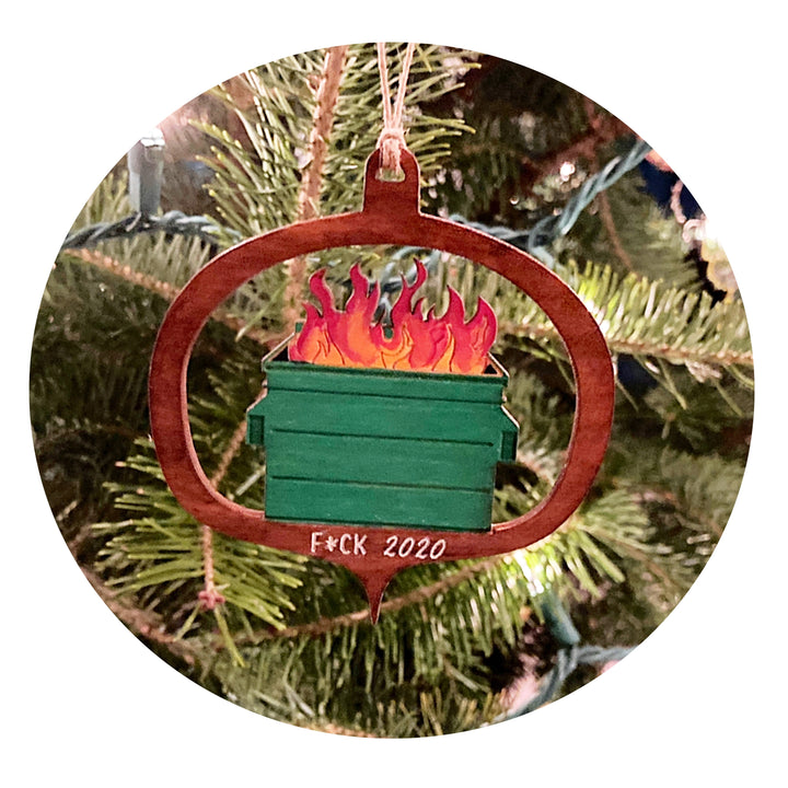 Dumpster Fire 2020 Ornament
