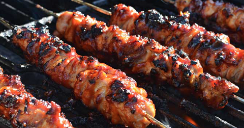 Smokey BBQ Chicken & Bacon Skewers + NEW PRODUCT !!