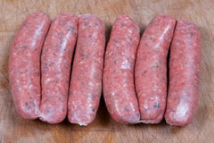 Herb & garlic beef sausages