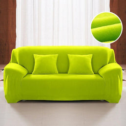 Velvet armchair cover - Green