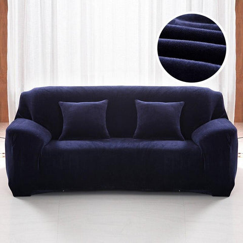 Velvet armchair cover - Dark Blue