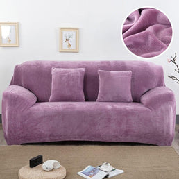 Velvet armchair cover - Light Violet