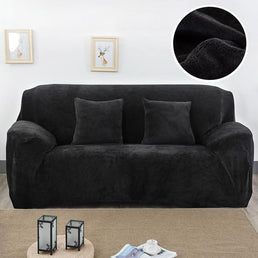 Velvet armchair cover - Black