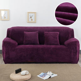 Velvet armchair cover - Dark Violet