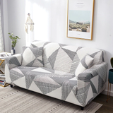 Sofa Cover - White & Grey