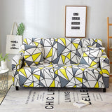 Sofa Cover - Yellow & Grey