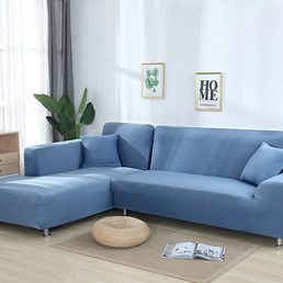 Corner Sofa - Light Blue